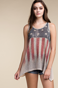 USA sublimation tank with sheer back