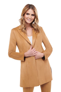 Luxe Suede Jacket with side slits