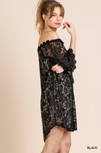 Off Shoulder Floral Lace Dress