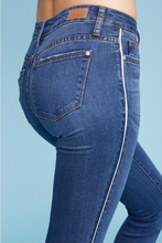 Judy Blue skinny jean with white side piping-ALL SIZES