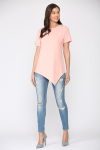 V-Neck Top with Side Tie