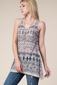 Print tank with bead and stone detail