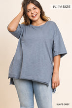 Short sleeve knit tunic - CURVY