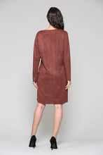 Ultimate designer suede dress with pockets