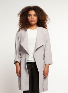 Stunning designer waterfall duster/coat with side ties