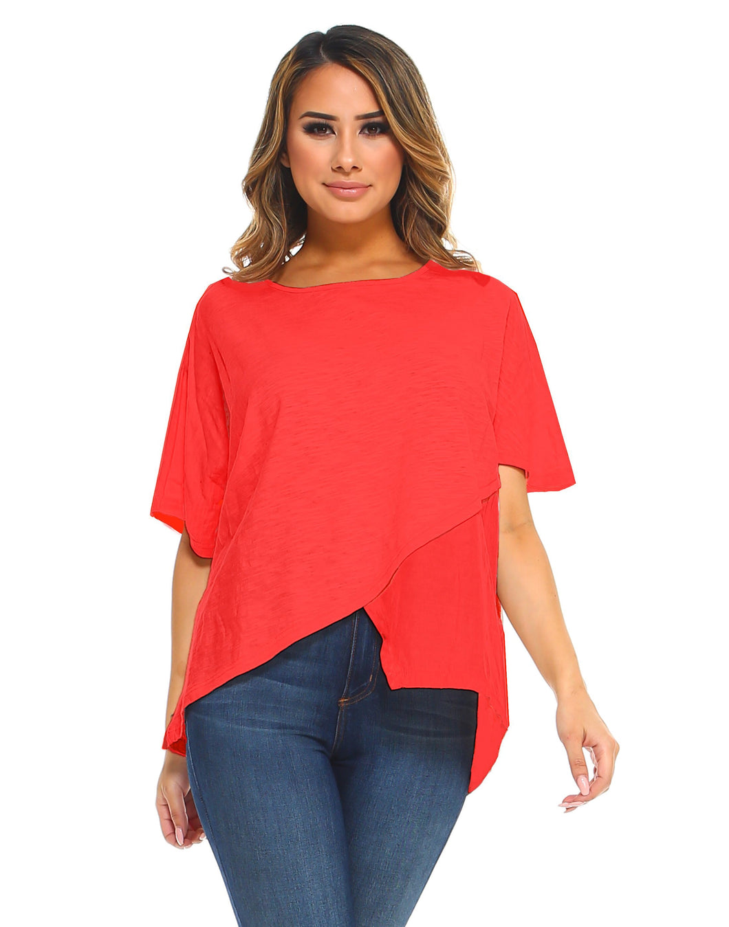 Asymmetrical Bell Sleeve Designer Top