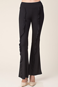 Boot cut ruffle legging/pant