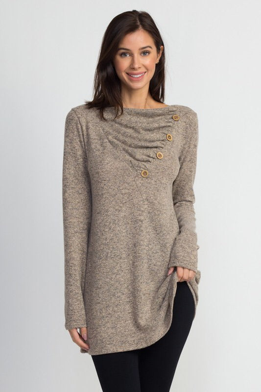 Button top tunic-CURVY!