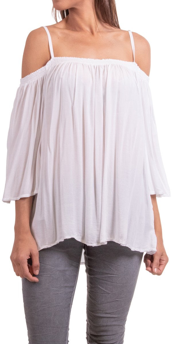 Cold Shoulder Designer Blouse