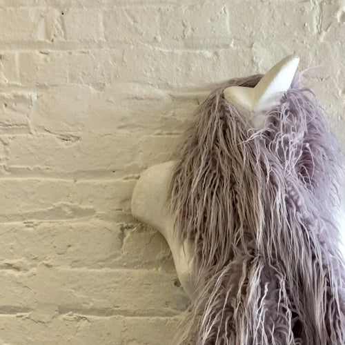 Faux ostrich feather scarf