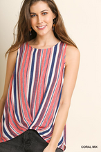Beautiful coral mix sleeveless round neck top