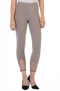 Legging/pant with mesh ankle detail-steel grey