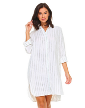 Oversized striped shirt/dress by JOH