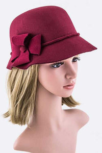 Cloche hate with flower accent