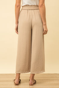Wide Leg Pants with Front Tie