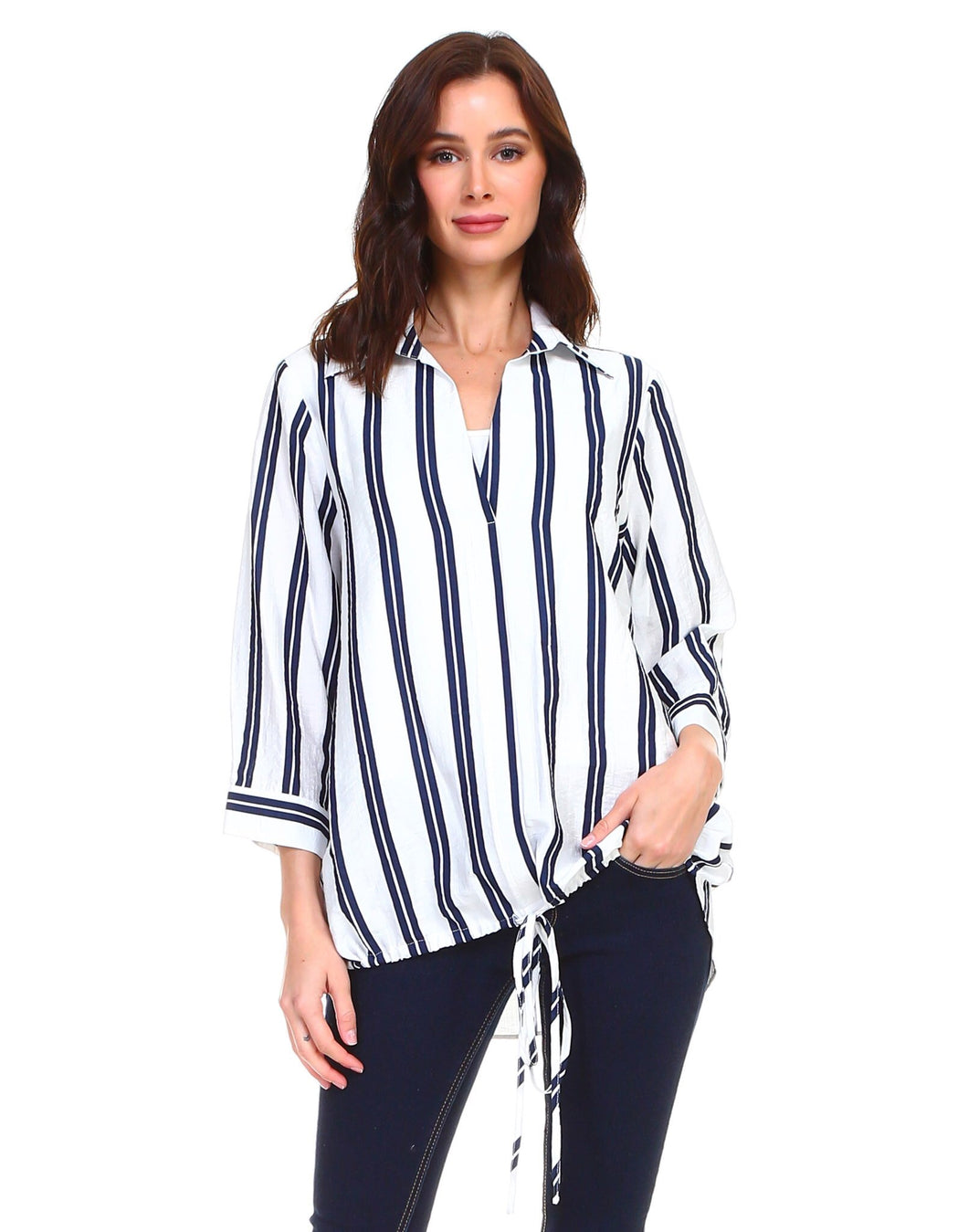 Nautical striped designer top