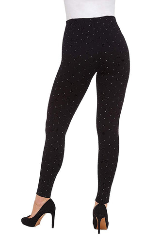 Luxe Black Metallic Dot Leggings