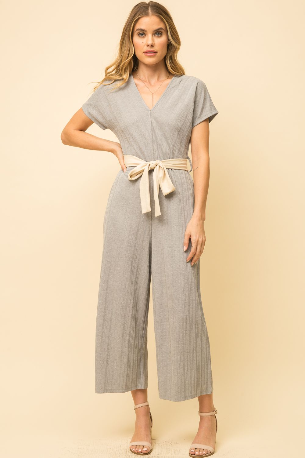 Herringbone Pattern Jumpsuit