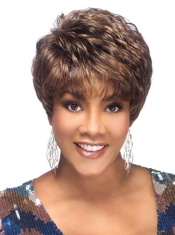 8 inch layered short pixie style with tapered back | AMY-V AMY -V Wig | Vivica A Fox