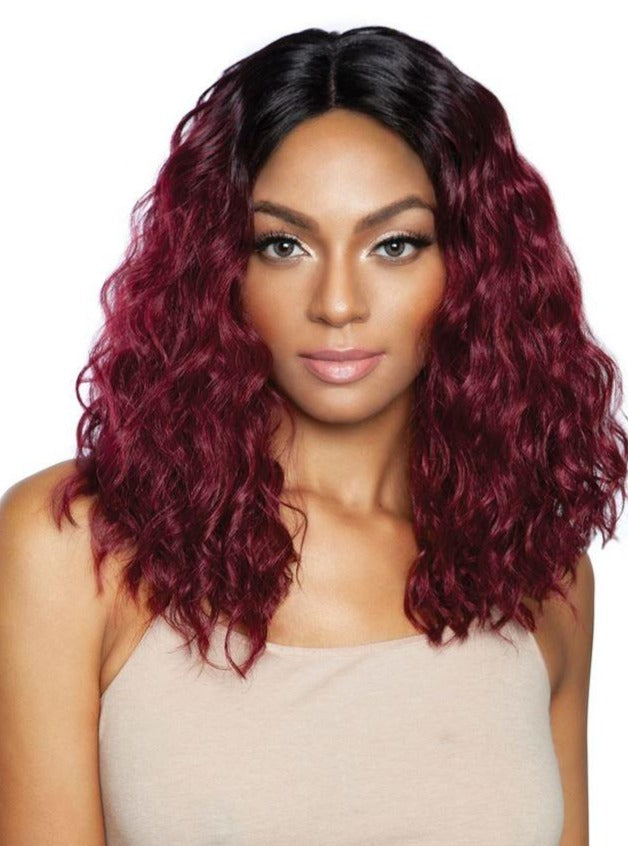 DEEP WAVE STYLE WITH SIDE PART | BS145 Wig | Brown Sugar
