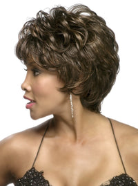 9 inch layered pixie style wig with barrel curl and tapered back | JOLEEN-V | Vivica A Fox