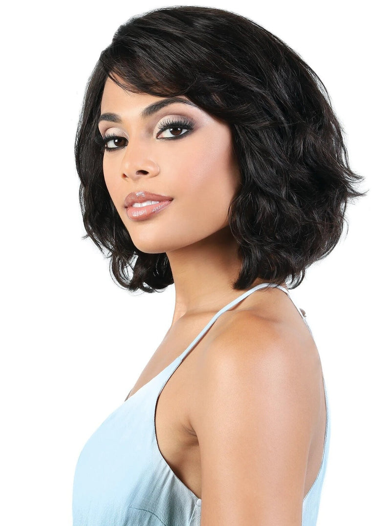 100% PERSIAN HUMAN HAIR REMY WAVE PAGE WIG Finish Length: 11"