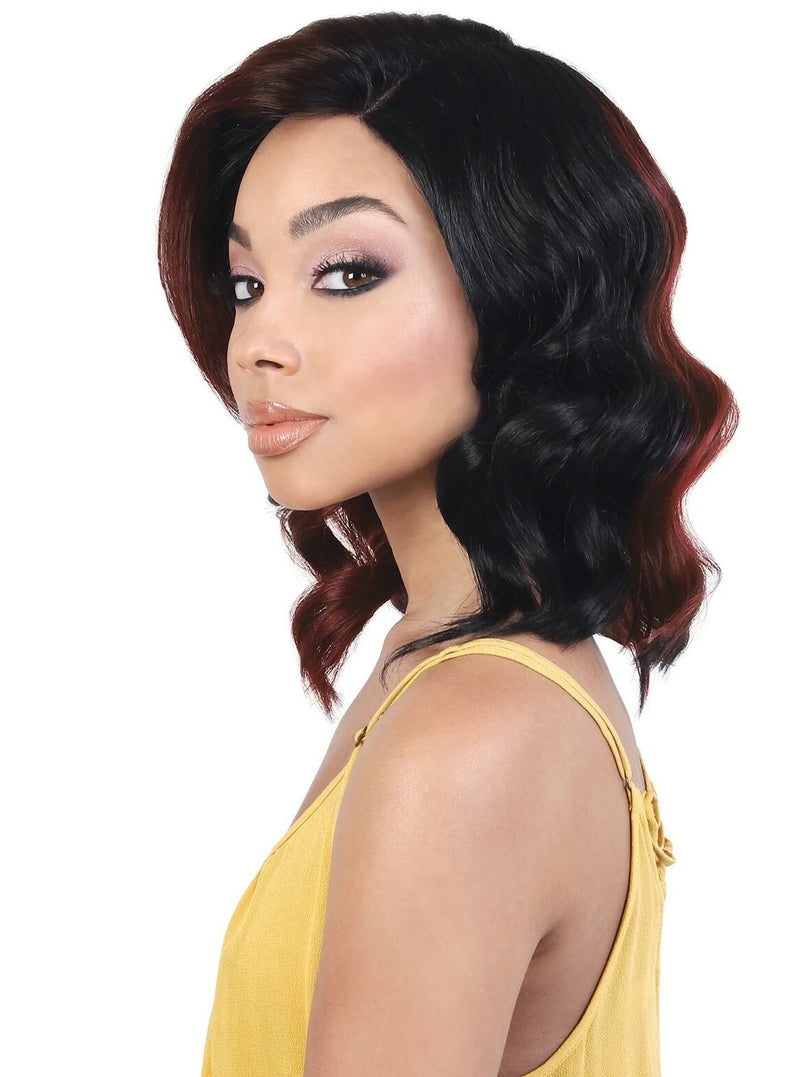 LACE DEEP PART WAVY MEDIUM LONG WIG 14"