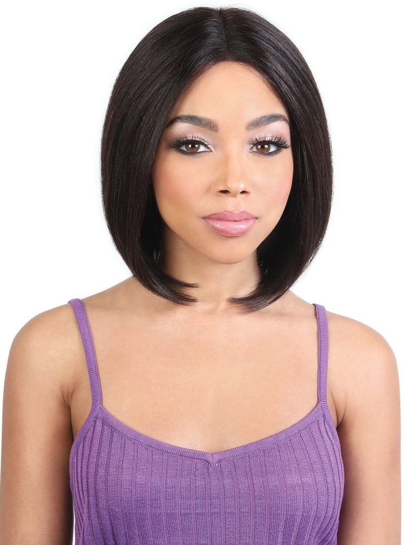 100% PERSIAN HUMAN HAIR CENTER PART STRAIGHT WIG Finish Length: 11"