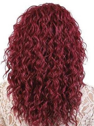 LACE HIGH TEMPERATURE WATER CURLY LONG WIG Finish Length: 18"