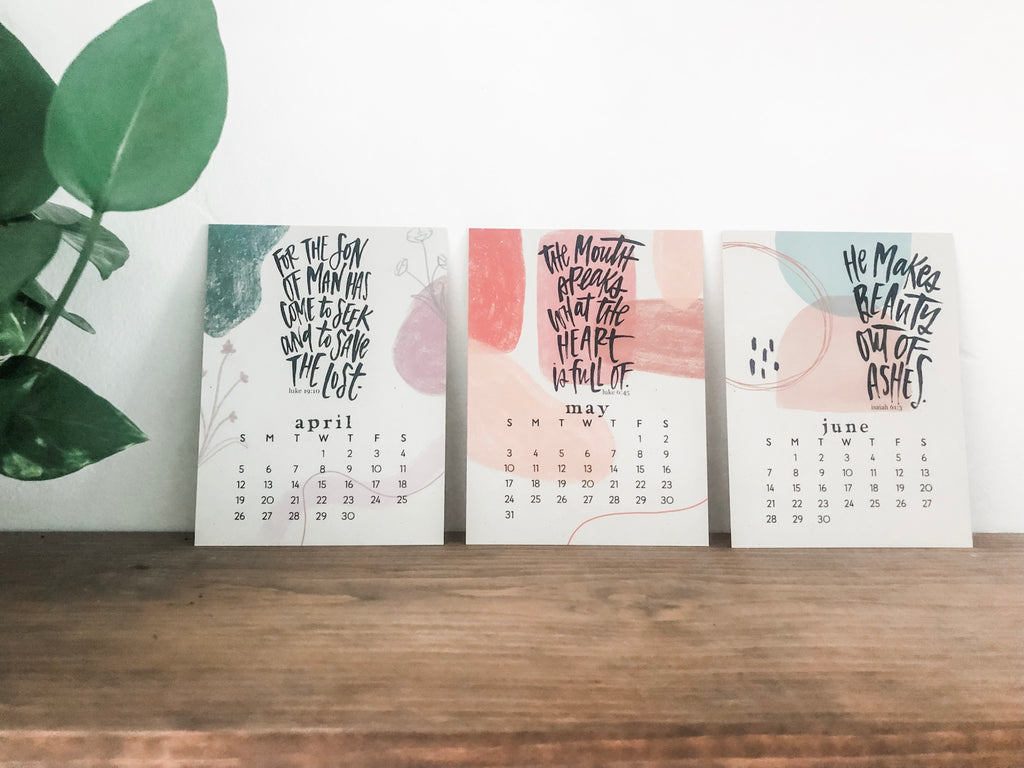 The 2020 Katygirl Designs Scripture Calendar With Black Clip Base