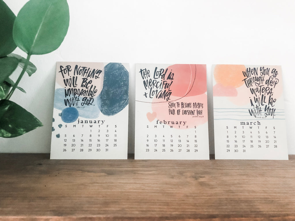 The 2020 Katygirl Designs Scripture Refill Calendar