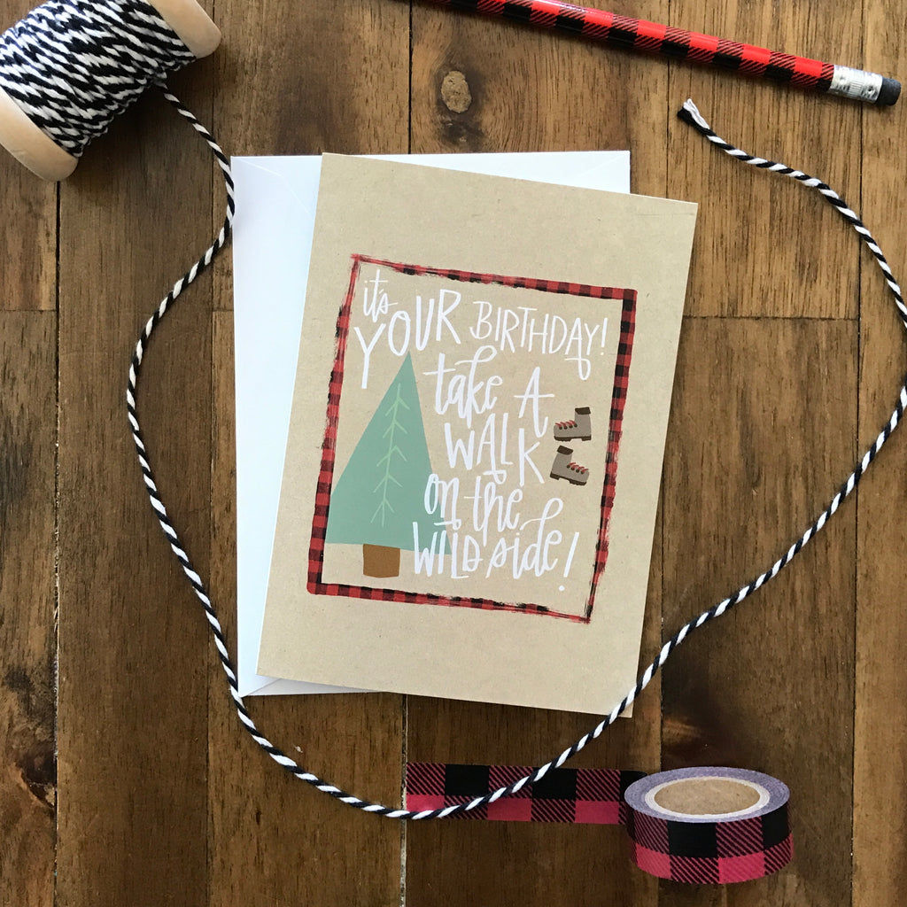 Wild Side Birthday Card - with coordinating envelope