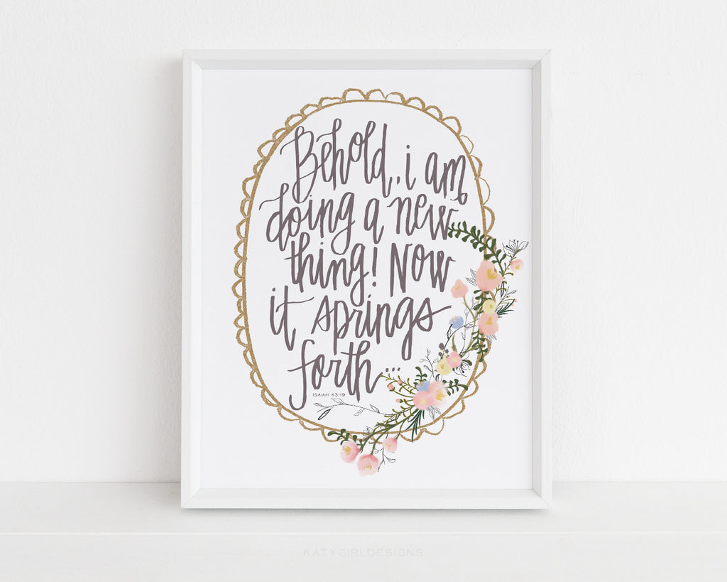 Doing A New Thing Wall Print - Isaiah 43