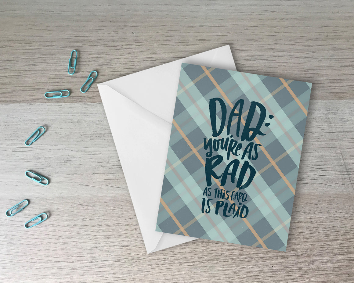 Dad You're Rad - Father's Day Greeting Card