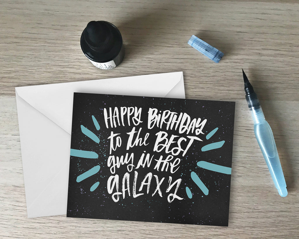 The Best Guy In The Galaxy Birthday Greeting Card