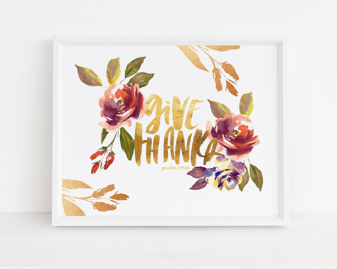 Give Thanks Wall Print