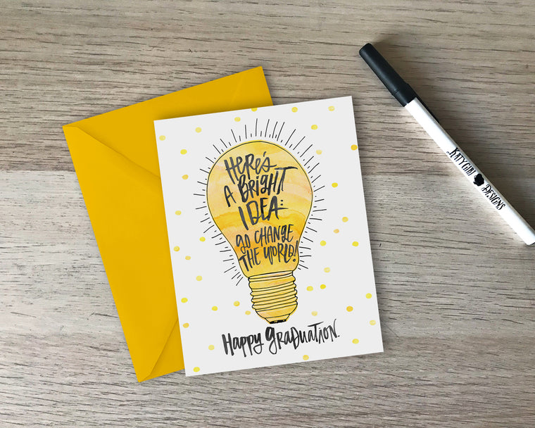 Here's A Bright Idea Graduation Card