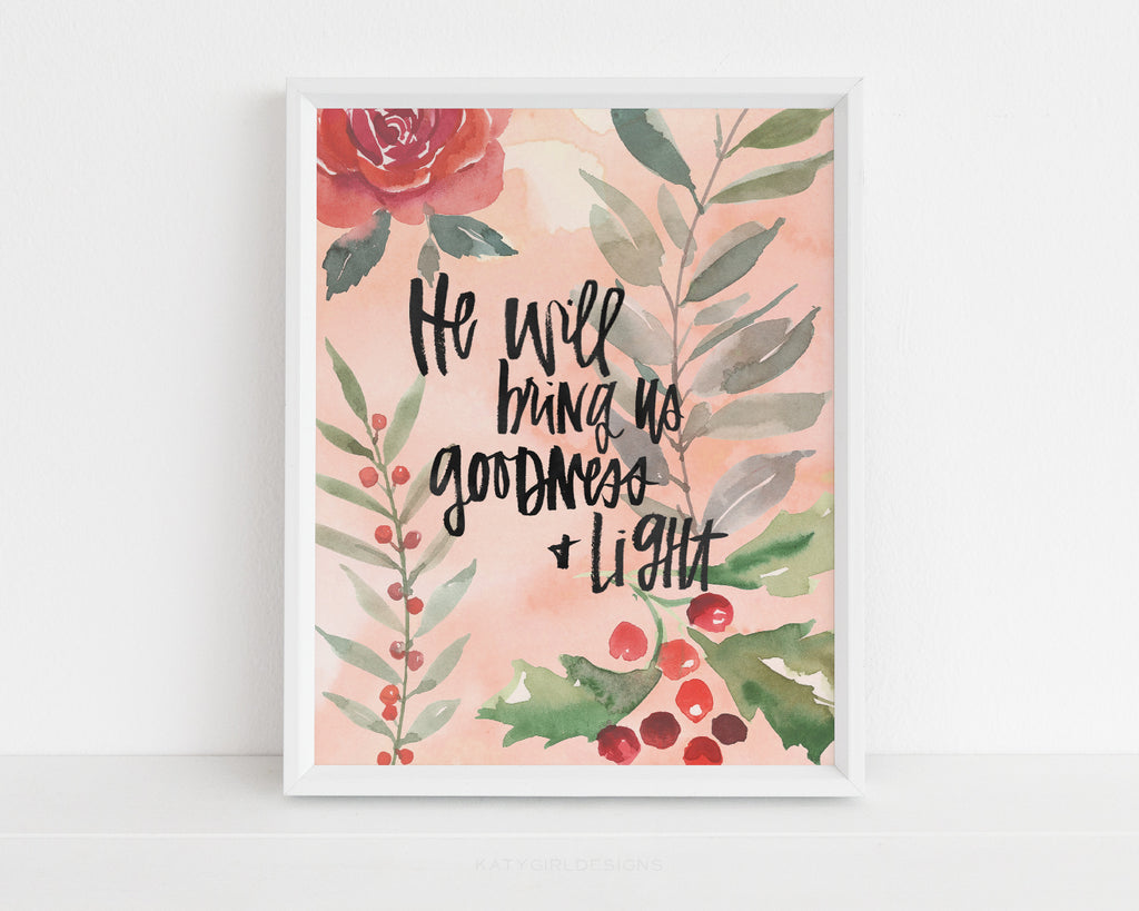 Goodness + Light Christmas Print