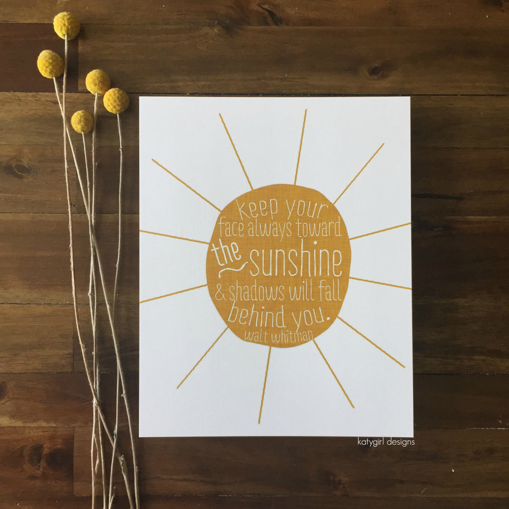 The Sunshine Print - Walt Whitman Quote