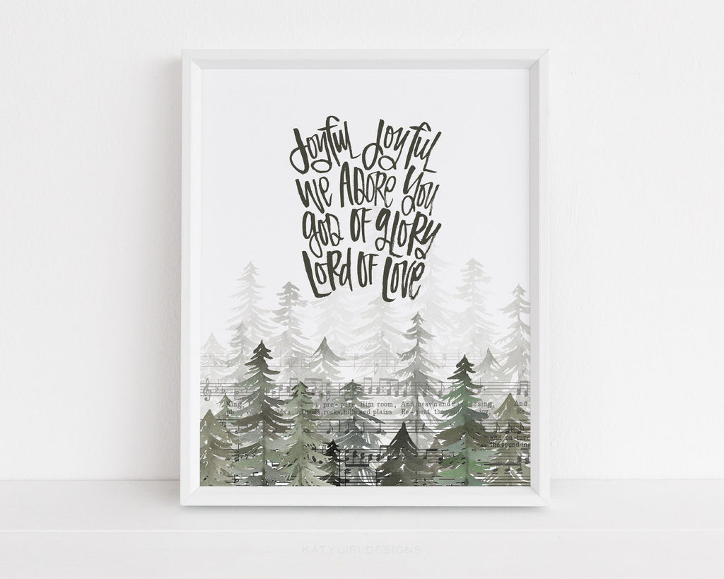 Songs Of The Season Series - Joyful Joyful Holiday Print - 8x10
