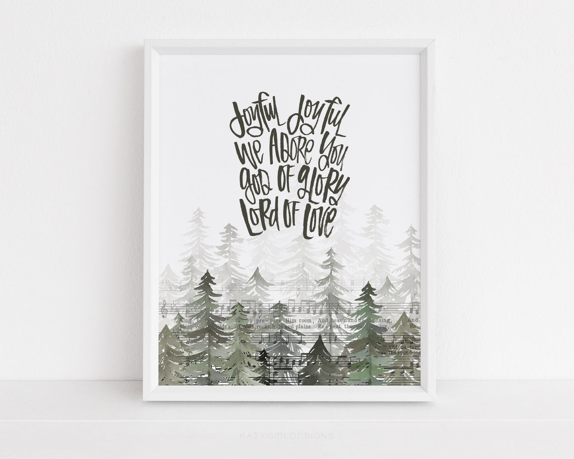 Joyful Joyful Holiday Print