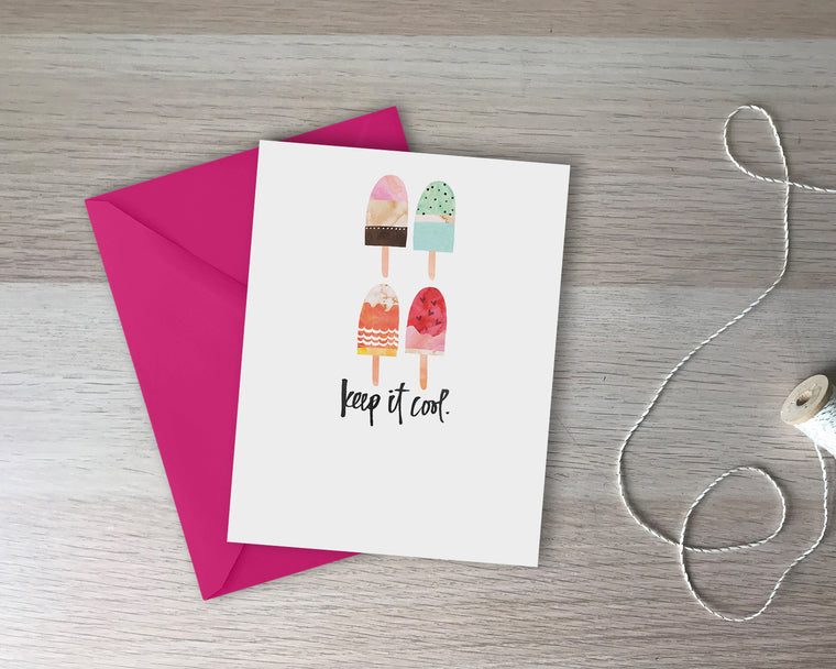 Keep It Cool Greeting Card - with coordinating envelope