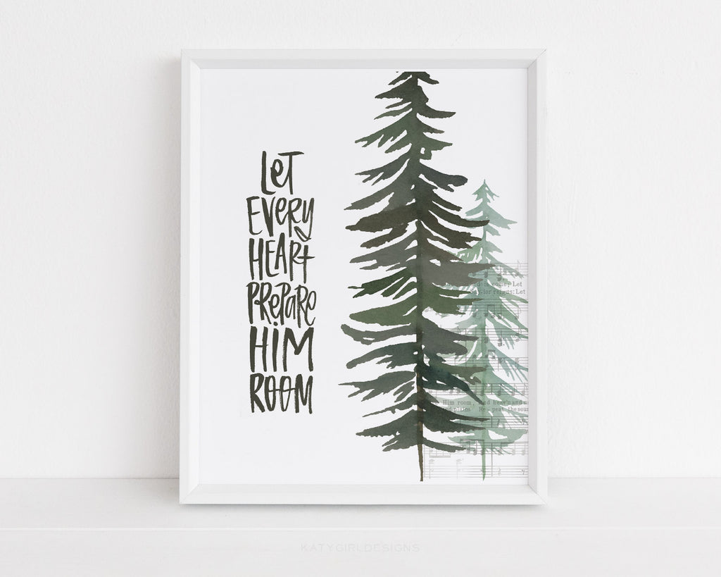 Let Every Heart Prepare Him Room Holiday Print