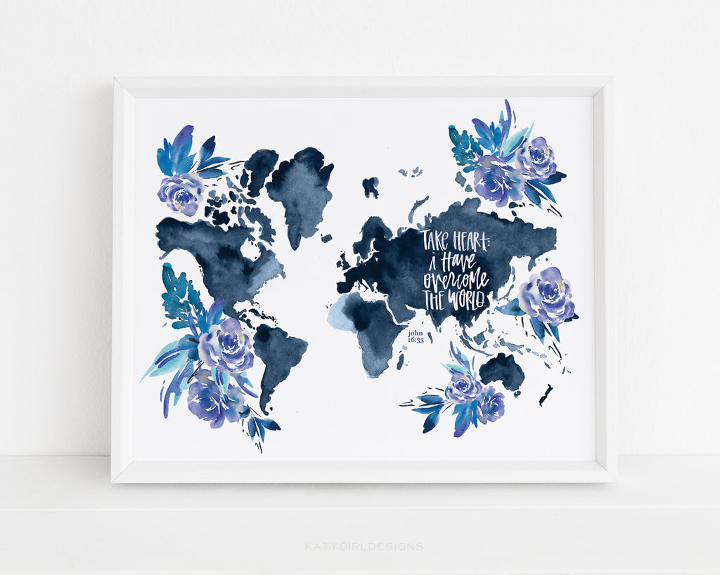 Overcome The World Wall Print - John 16:33