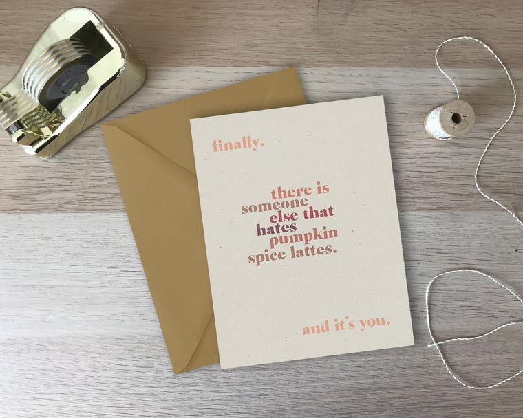 Pumpkin Spice Lattes Greeting Card