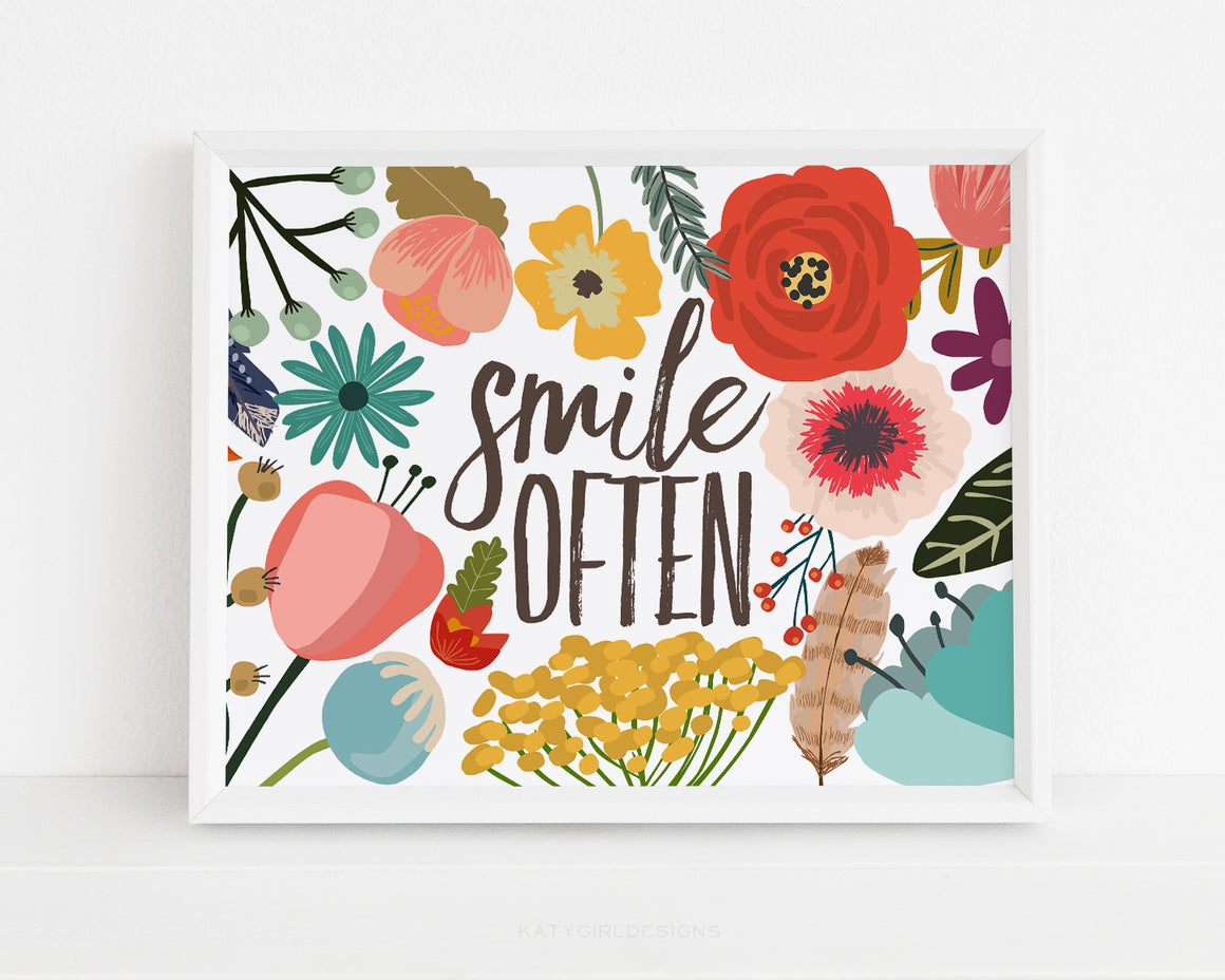 Smile Often Wall Print