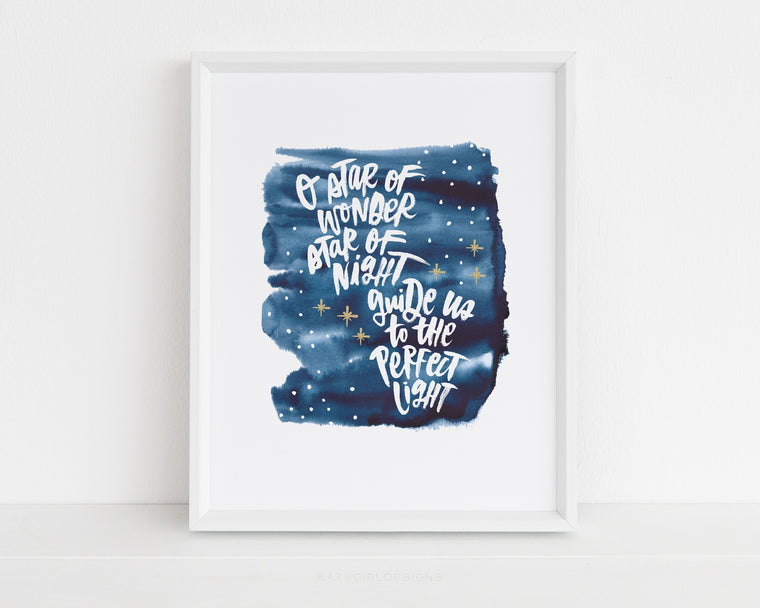 O Star Of Wonder Holiday Print