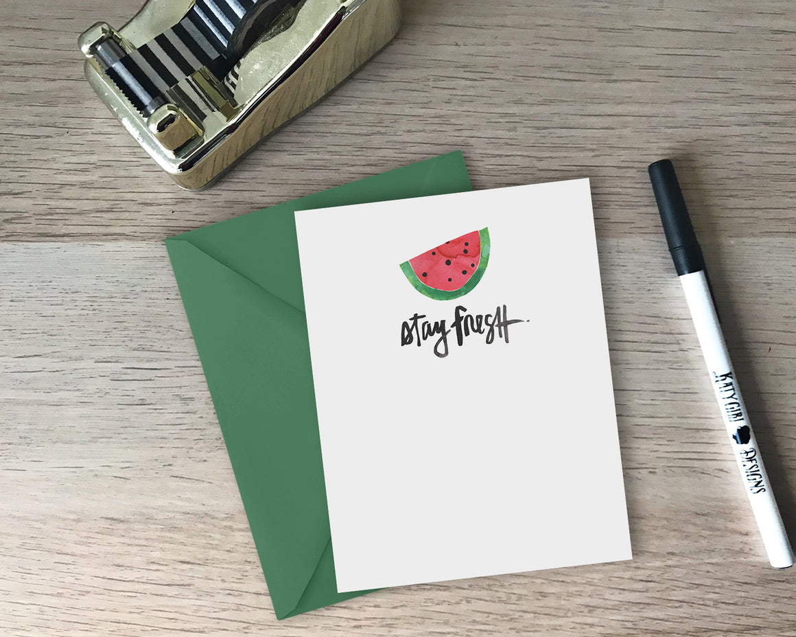 Stay Fresh Greeting Card - with coordinating envelope