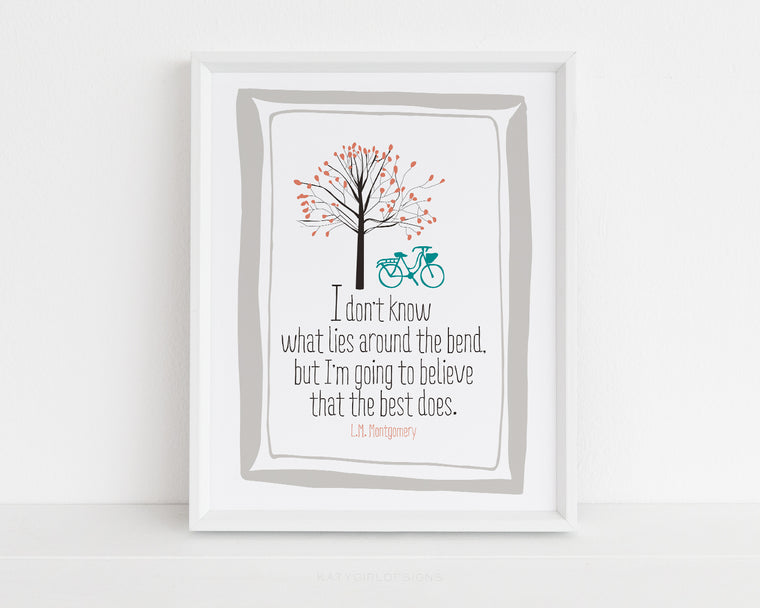 The Bend Wall Print - Anne Of Green Gables Print