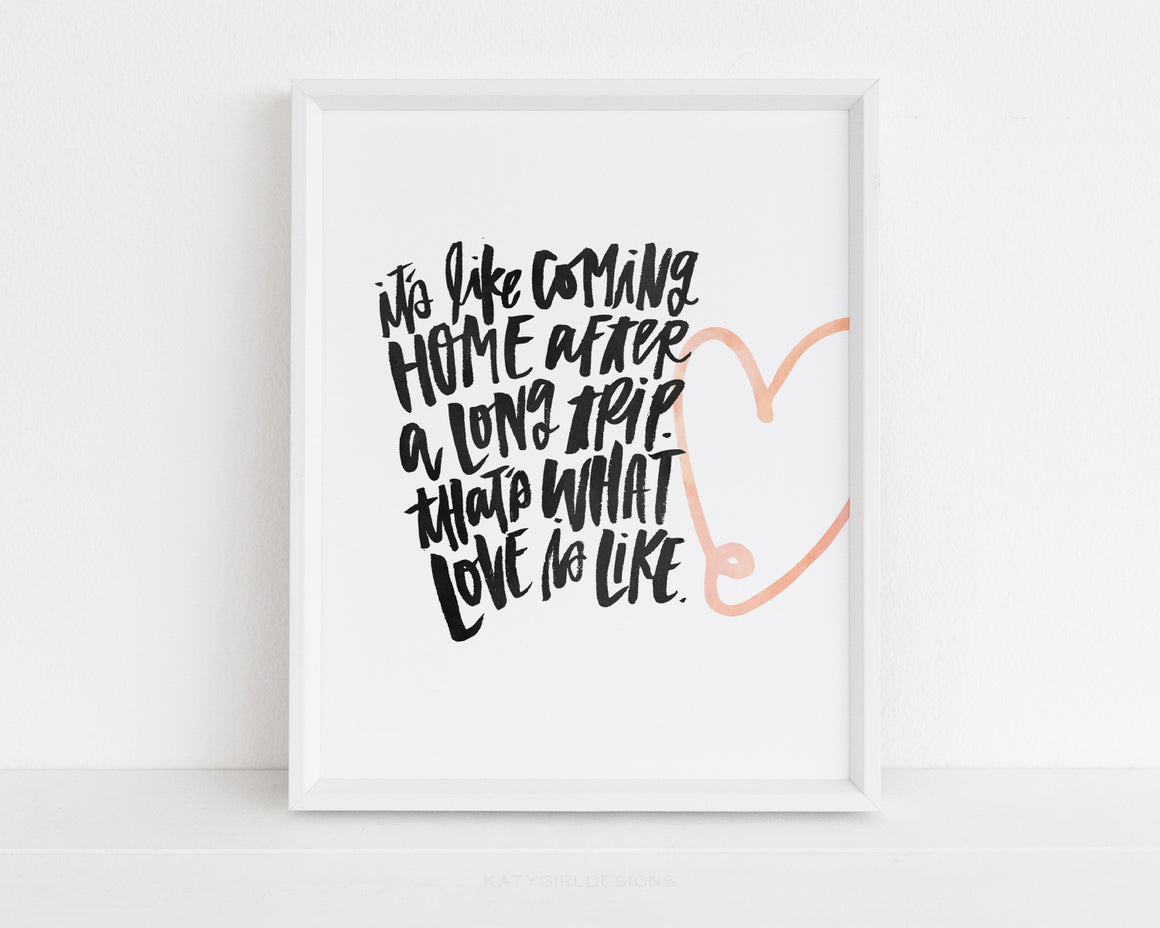 What Love Feels Like Print